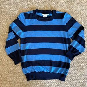Michael Kors blue & navy silk sweater